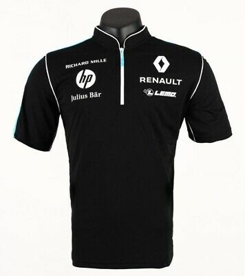 POLO Shirt Zip Formula E 1 Renault FIA NEW! E.DAMS Sponsor Julius Bar