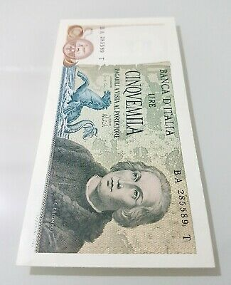 5000 Lire Colombo 2Tipo  Banknotes Italy