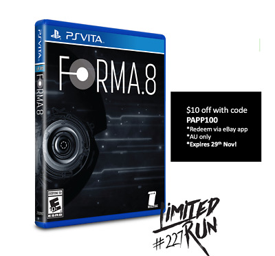 Forma.8 Playstation Vita PS Vita Limited Run Games #227 Sealed 2000 WW SoldOut!
