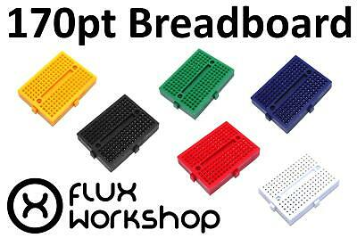 SYB-170 Coloured 170 Point Solderless Breadboard Prototyping Slot Flux Workshop