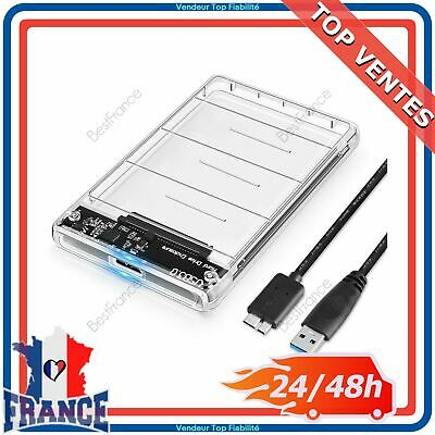 "Boîtier Disque Dur Externe 2.5"" SATA 3 HDD SSD USB 3.0 PC Portable Windows MAC"