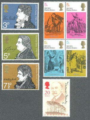 Literature  stamps collection Great Britain mnh-Dickens-Hardy