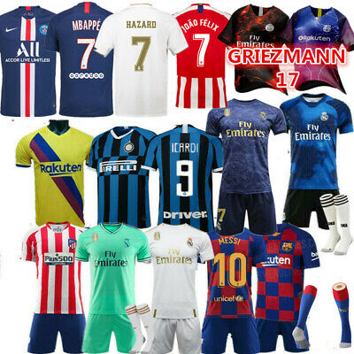 392e1b4e9 Custom Football Outfit Strips Youth Soccer Suits Training Jerseys Kits For  Kids