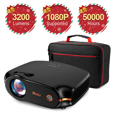 """RAGU Z400 Mini Projector, 2019 Upgraded Full HD 1080P 180"""" Display Supported,"""