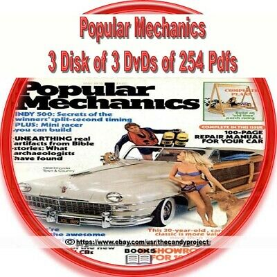 4 DVDs Popular Mechanic Magazines PDF Henry Haven Windsor 3rd in Series of 3