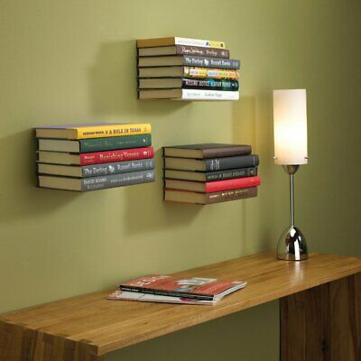 Set of FOUR (4) Umbra Conceal Invisible Floating Shelf (Sml/White)+ DryWall Plug