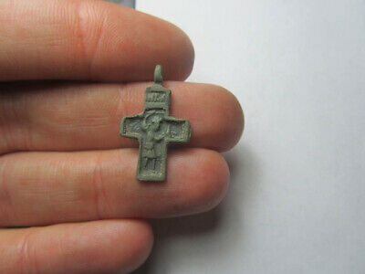 Ancient cross Demonic Exorcism Byzantine - Kievan Rus - medieval  100% original