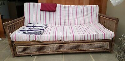 Large Rattan sofa bed -  house items sale