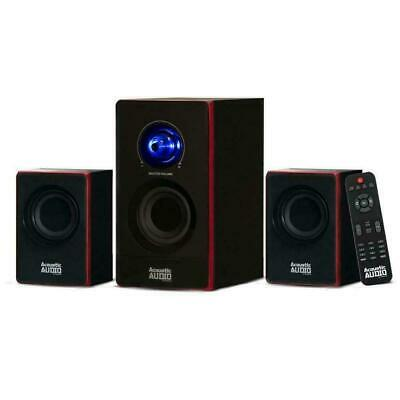 Stereo Bass System Home Audio Shelf Sound Speakers Wireless Bluetooth New
