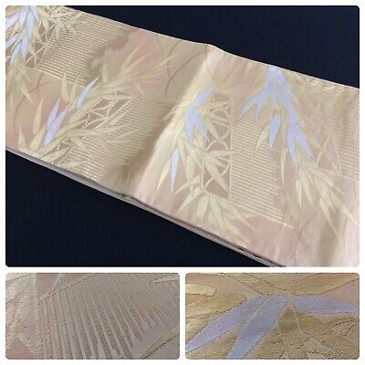 Japanese fukuro obi for kimono, for women, silk, embroidered,Japan import(W2616)
