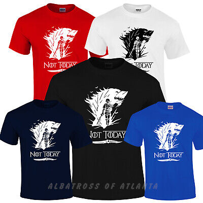 Arya Stark Not Today T-shirt Game Of Thrones Inspired Adults Kids Ladies Tops..