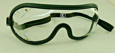 Kroops Boogie Black Skydiving Goggle with Clear Ventilated Lens