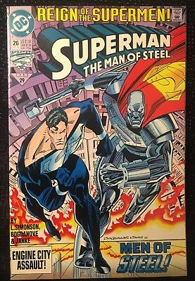 Dc Comics - Superman The Man Of Steel #26 Oct 93 - Reign Of The Supermen! - 1993