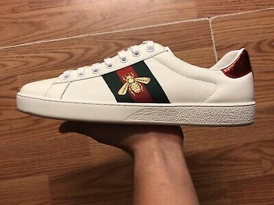 7ec6ed0f3 MENS GUCCI ACE Embroidered Bee Shoes Sneakers Size 8.5 US - $295.00 ...