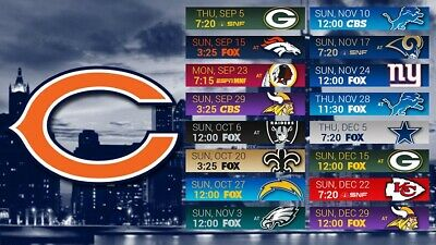 graphic regarding Chicago Bears Schedule Printable called As a result of Picture Congress Chicago Bears Timetable 2018