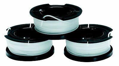 BLACK+DECKER A6485-XJ Lot de 3 Bobines de Fil Reflex 10 m x 1.5 mm Coupe Bordure