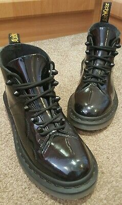 wholesale dealer latest fashion new york DR MARTENS CHURCH Stud Black Womens Patent Lamper Lace-up ...