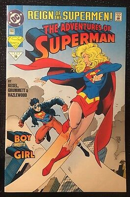 Dc Comics - The Adventures Of Superman #502 Jul - Reign Of The Supermen! - 1993/