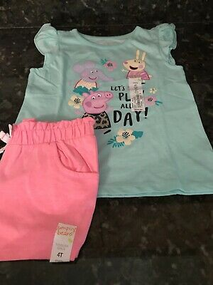 Size 4 T Nwt Responsible Jumping Beans Toddler Girls Shorts
