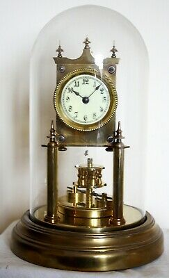Early Gustav Becker 400 Day Anniversary Clock, with dome.