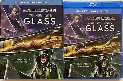 Glass Blu Ray Dvd 2 Disc Set + Slipcover Sleeve Free World Wide Shipping M Night