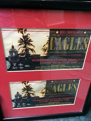 The Eagles - Hell Freezes Over Tour 1996 - Scotland Murrayfield Tickets Framed