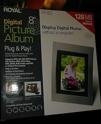 """8"""" Digital Picture Frame Brand New PF80-128 by Royal"""