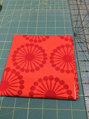 SALE Bolt End Clearance 35cm x 110cm, Red,Quilting Fabric, 100% cotton patchwork