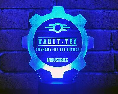Fallout .VAULT-TEC industries. Colors changing LED Lamp