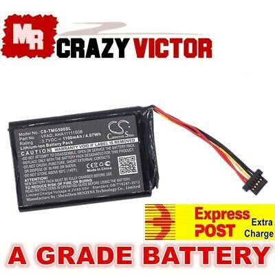 Battery for TomTom GPS 4FL50,4FL60,Go 5000 5100 6000 6100,Pro Truck 5250,VFAD