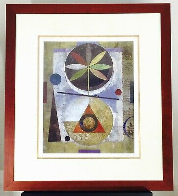 "Abstract Print Signed Limited Edition Framed Lithograph ""Sefnot I"" by Iren Schio"
