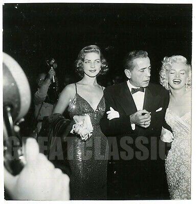 Marilyn Monroe Bogart & Bacall How To Marry Millionaire 1953 Vintage Photograph