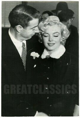 Marilyn Monroe Joe Dimaggio Wedding Day 1954 Original Vintage Dblwt Photograph