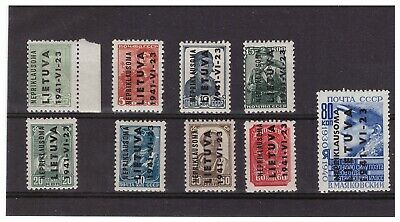 Ger. Third Reich 1941 Occupation Of Lithuania 1-9 Mnh Complete Set Pg37