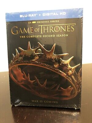 Game of Thrones: The Complete Second Season Blu-Ray + Digital - NEW Sealed