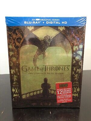 GAME OF THRONES The Complete Fifth Season Blu-Ray + Digital - New Sealed