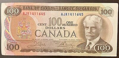 1975 - Canadian One Hundred Dollar Banknote, 100$ - Canada