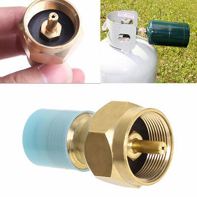 Useful Tank Connector Propane Gas Cylinder Tank Outdoor Stove BBQ Refill Adapter