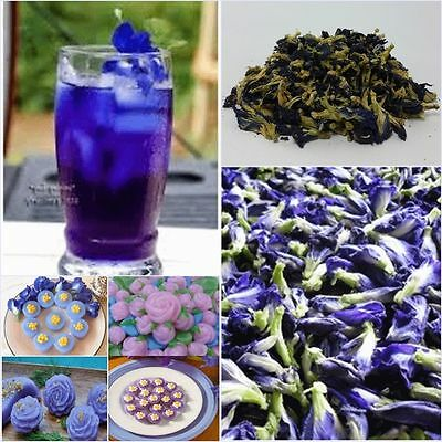 100g Thai Pure Natural Dried Butterfly Pea Tea Blue Flowers Tea Healthy Drink