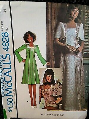 dd4591bba3cc6 B 4828 SEWING pattern Maternity DRESS comfy TOP neat PANTS sew 70's ...