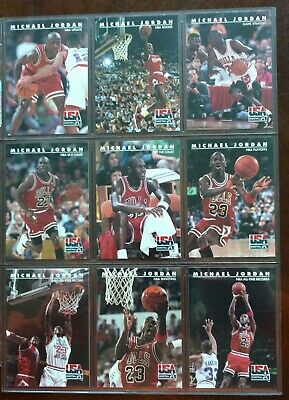 af18db6aee0 MICHAEL JORDAN 1992 SkyBox USA BASKETBALL 9 card subset -> BYMJC for Charity  <-