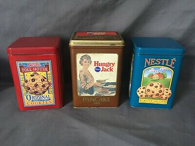 Vtg Sealed Hungry Jack Buttermilk Pancake Mix Tin With Contents