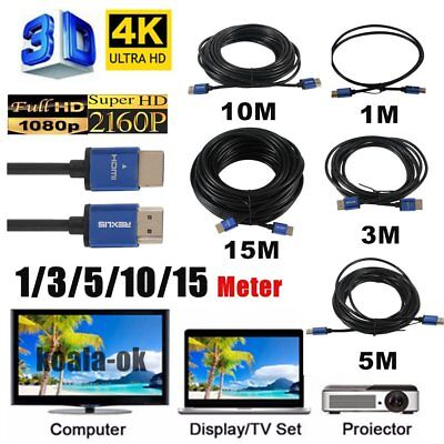 1M/3M/5M/10M/15M Super Long Aluminum Alloy HDMI Cable Male To Male HDMI Cable 0i