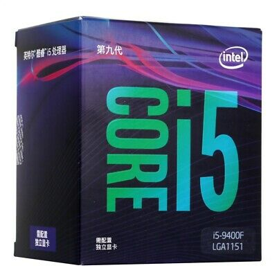 Intel Core i5-9400F 6 Cores 4.1 GHz Turbo Without Graphics CPU Processor LGA1151