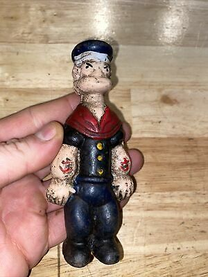Popeye Cast Iron Collector Toy Piggy Bank Antique Style Advertisement HEAVY! Ex