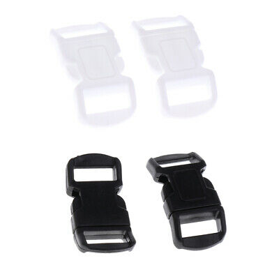 40 Pieces Plastic Side Press Release Curved Buckles Heavy Duty Accessories