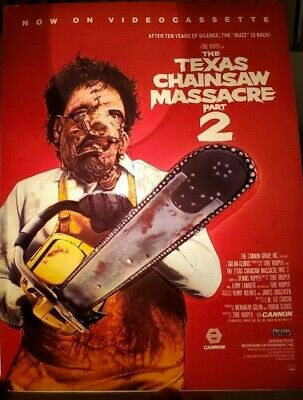 Texas Chainsaw Massacre 2 Leather-Face Display 3D Plastic Promo/1986