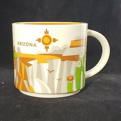 Starbucks Coffee Arizona You Are Here YAH Collection Mug Tea Cup 2015 14 Oz