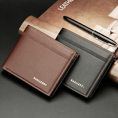 NEW Mens Luxury Soft Quality Leather Wallet Credit Card Holder Purse Brown 2019