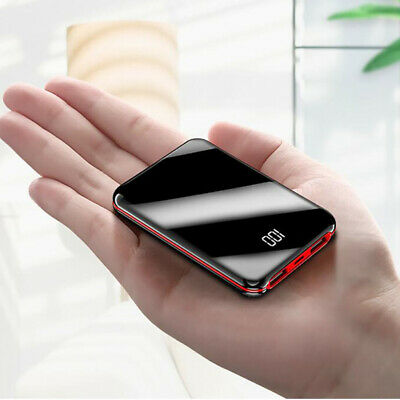 Mini Power Bank 10000mAh Small Full Display External Portable Charger Double USB